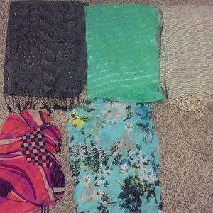 Fun designed scarves